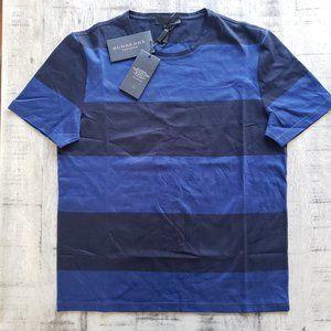 Burberry Prorsum Blue Striped SS Crew Neck T-Shirt